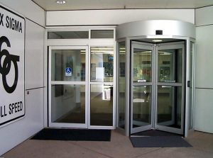 revolving door in Motorola Office - Automatic Revolving Systems Ontario