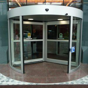 Revolving Door in bank By Horton Automatics of Ontario - Automatic Revolving Systems Ottawa, Burlington, London in Ontario