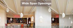 Wide-Span Opening Doors